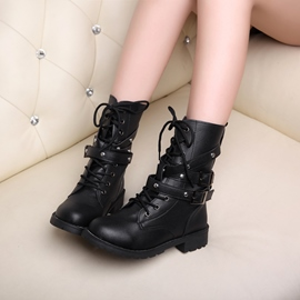 Ericdress All-matched Lace-up Ankle Boots