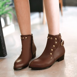 Cool Rivets Decoration Ankle Boots