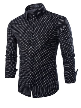 Ericdress Polka Dots Casual Slim Men's Shirt