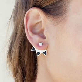 Triangle Shaped Alloy Earrings