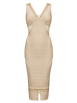 Ericdress V-Neck Knee-Length Party Dress