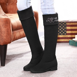 Pretty Suede Knee High Boots