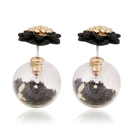 Nice Ball Shaped Alloy Earrings