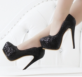 Elegant Sequins Decoration Prom Shoes