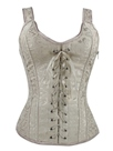 Ericdress White Lace-Up Strap Slim Corset