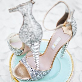 Ericdress Luxurious Rhinestone Ankle Strap Wedding Shoes