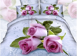 Ericdress Vibrant Rose Print 3D Bedding Sets