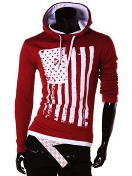 Ericdress Striped Pullover Men Hoodie