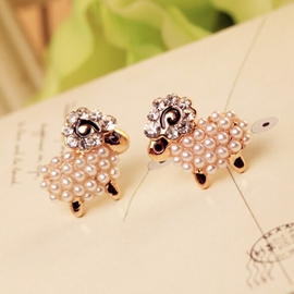 Lovely Sheep Shaped Earrings