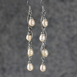 Pearl Decorated Long Earrings
