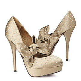Ericdress Khaki Big Bowtie Decoration Prom Shoes