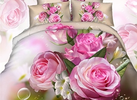 Ericdress Rose Bouquet Print 3D Bedding Sets