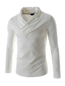 Ericdress Plain Pleated V-Neck Men's Hoodie