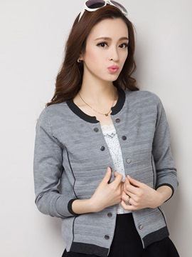 Ericdress Double-Breasted Cardigan Knitwear