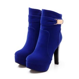 Ericdress Suede Metal Decoration High-heel Boots