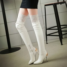 Ericdress Sexy Lace Knee High Boots