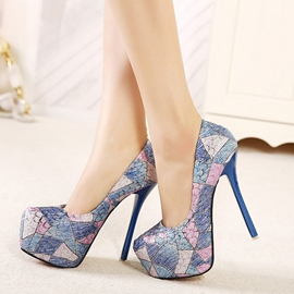 Ericdress Patchwork Round-toe Pumps