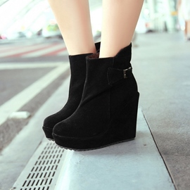 Ericdress All-matched Wedge Heel Ankle Boots