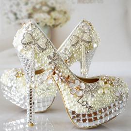 Ericdress Luxurious Rhinestone Tassels Wedding Shoes
