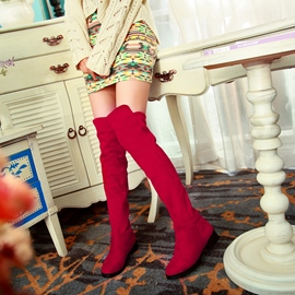 Ericdress Simple Suede Knee High Boots