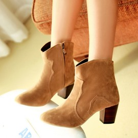 Ericdress Ankle Boots with Side Zipper