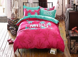 Ericdress Leaves Miss Print Kids Bedding Sets