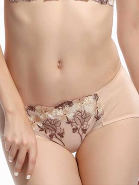 Ericdress Triangle Sheer Embroidery Panties