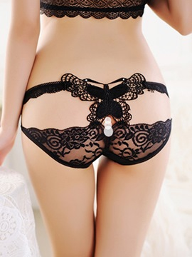 Ericdress Plain Lace Cute Bowknot Panties
