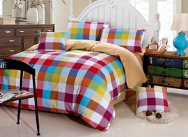 Ericdress Shining Rainbow Plaid 4-Piece Bedding Sets