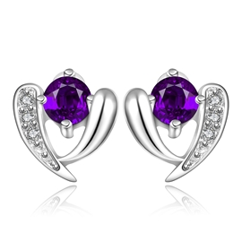 Superb Amethyst Inlaid Shining Earrings