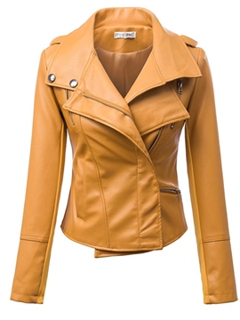 Ericdress Cool PU Jacket