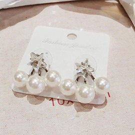 Big Pearls Decorated Concise Earrings(Price for a Pair)