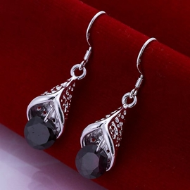Shining Rhinestone Decorated Earrings