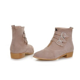 Ericdress Pretty Suede Ankle Boots with Buckle