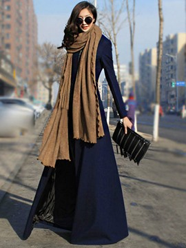 Ericdress Stand Collar Long Style Coat