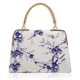 Ericdress Vintage Chinese Style Blue White Porcelain Tote Bag