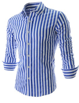 Ericdress Vertical Striped Men's Casual Shirt