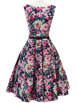 Ericdress Floral Expansion Casual Dress