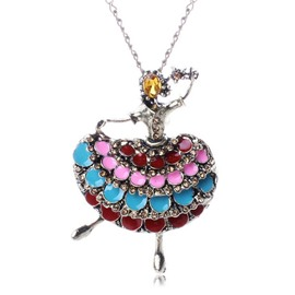 Beautiful Dancer Shaped Pendent Necklace
