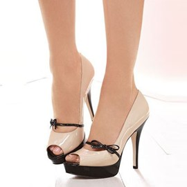 Ericdress Lovely Bowtie Peep Toe Stiletto Sandals