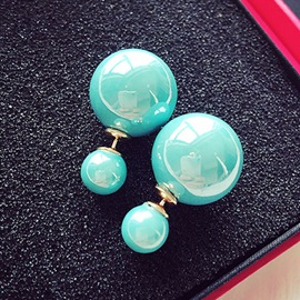 Cute Colorful Pearl Decorated Earrings