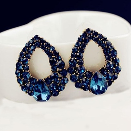 Ericdress Luxurious Rhinestone Decorated Earrings