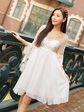 Ericdress Sequins Expansion Casual Dress