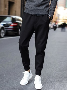 Ericdress Plain Casual Men's Pencil Pants