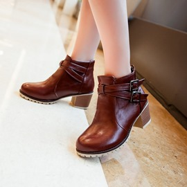 Ericdress Pretty Buckles Decoration Ankle Boots