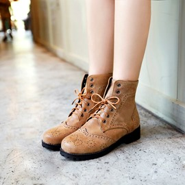 Ericdress Cool Lace-up Ankle Boots