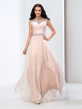 Ericdress Cap Sleeves Pleats Sequins Long Prom Dress