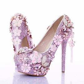 Ericdress Pink Rhinestone&tassels Wedding Shoes