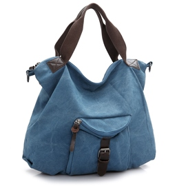 Ericdress Trendy Solid Color Canvas Tote Bag