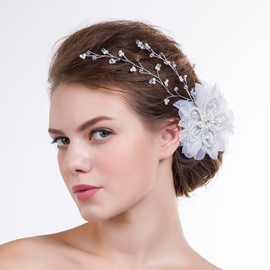 Ericdress Beautiful Beading Hair Flower